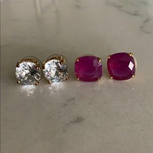 Two Kate Spade Dot Earrings